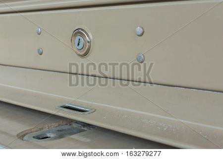 key hole on roller shutter door, construction industry