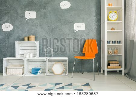 Room With Orange Chair