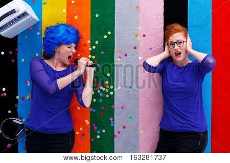 Two Women During A Party