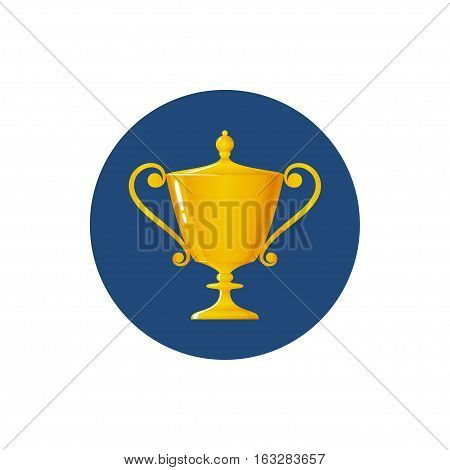 Icon cup of winner, icon gold trophy cup
