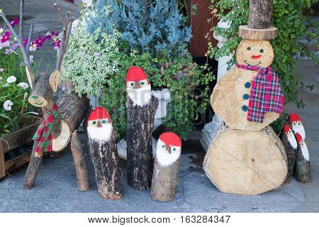 School decorations for christmas and new year holiday stock photo