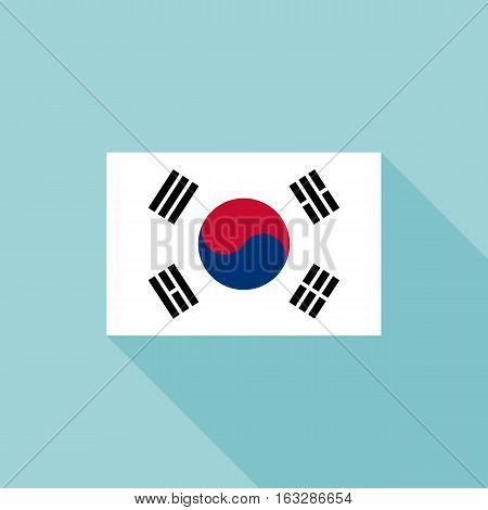 Korea flag , flat design vector with official proportion