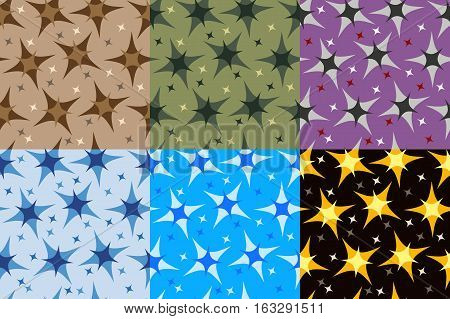 set of fractals and elements of rotation and torsion in different colors