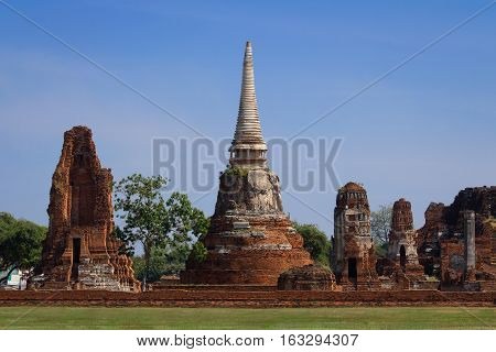 Old temple Wat Ma Ha That in Ayutthaya, Thailand