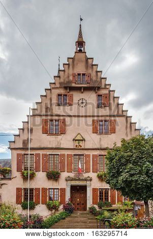 City hall in Dambach la Ville Alsace France