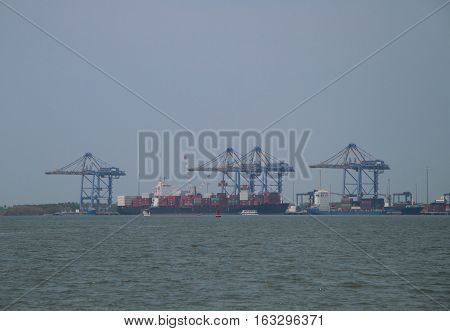 Sea Port Of Kochi, India