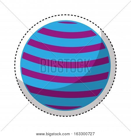 plastic ball isolated icon vector illustration design