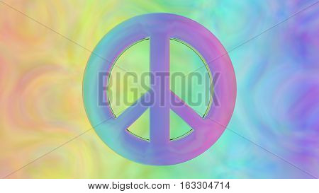 psychedelic 1960s hippie peace anti war sign