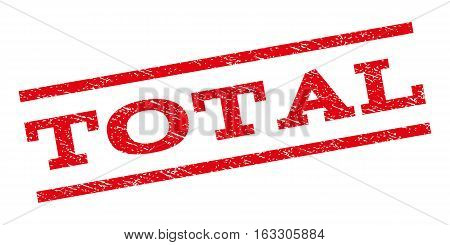 Total watermark stamp. Text caption between parallel lines with grunge design style. Rubber seal stamp with dirty texture. Vector red color ink imprint on a white background.
