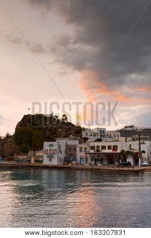 SKALA, GREECE - DECEMBER 12, 2016: Patmos island in Dodecanse archipelago in eastern Aegean on December 12, 2016.