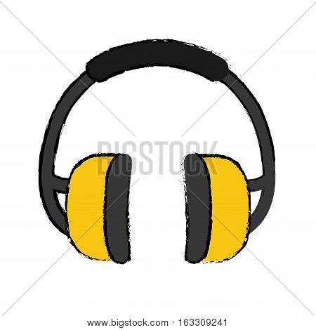 Industial earmufss equipment icon vector illustration graphic design
