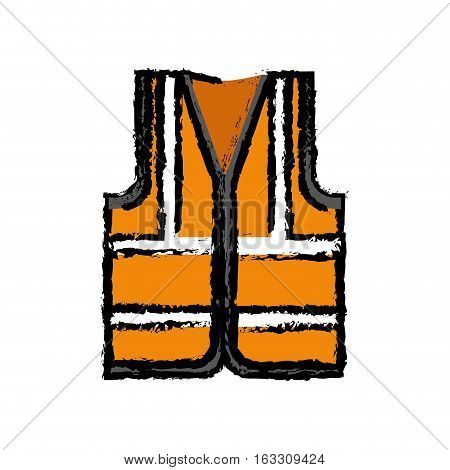 Industry vest isolated icon vector illustration graphic design