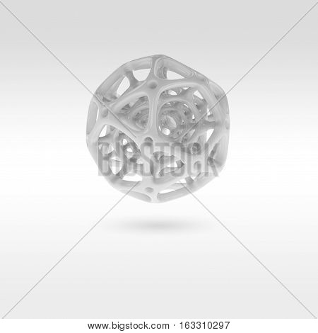 3d illustration of abstract sphere on a white background