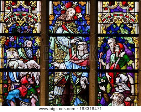 Stained Glass - Christ The Healer