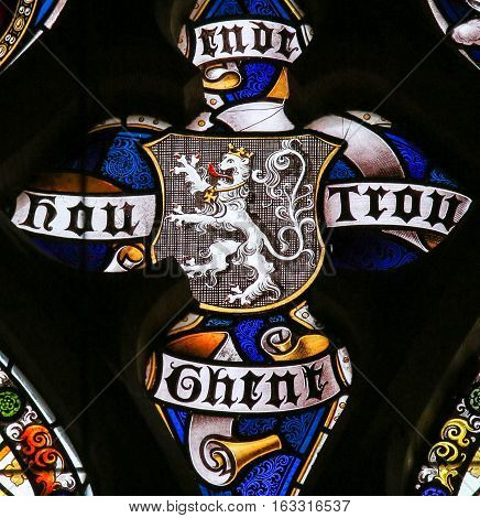 Stained Glass - Flag Of Ghent