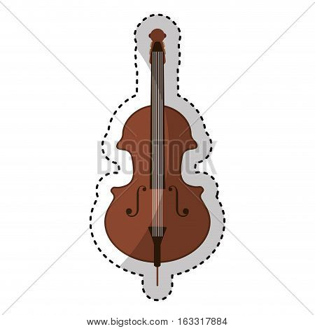 cello instrument isolated icon vector illustration design