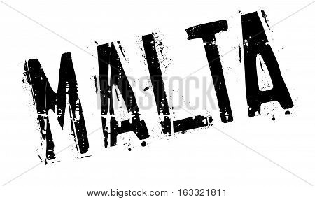 Malta stamp. Grunge design with dust scratches. Effects can be easily removed for a clean, crisp look. Color is easily changed.