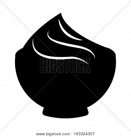 delicious sweet pudding icon vector illustration design
