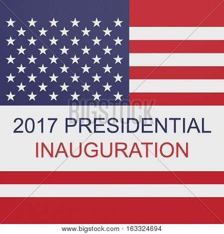 Presidential Inauguration 2017 US Flag Stars And Stripes illustration