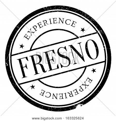 Fresno stamp. Grunge design with dust scratches. Effects can be easily removed for a clean, crisp look. Color is easily changed.