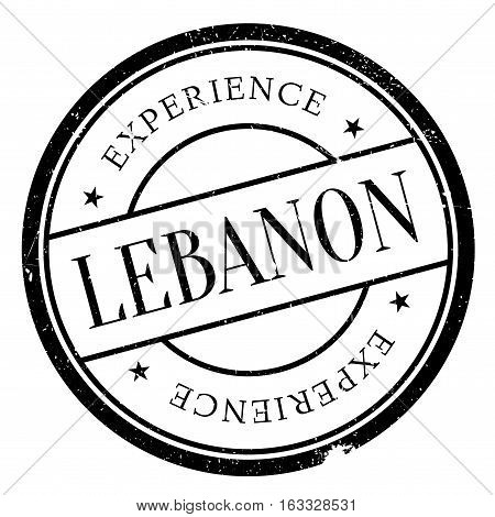 Lebanon stamp. Grunge design with dust scratches. Effects can be easily removed for a clean, crisp look. Color is easily changed.