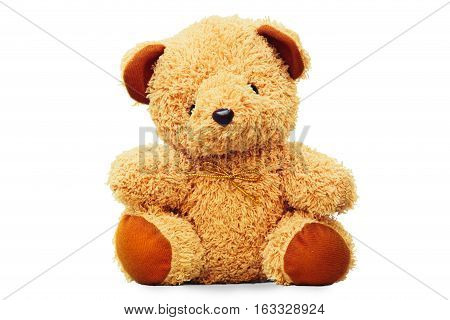 Teddy bear at isolated on white background