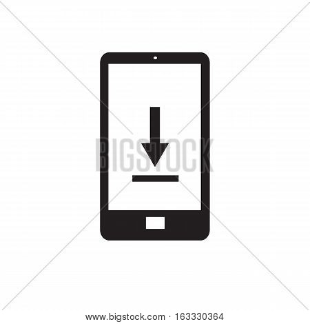 phone download icon on white background. phone download icon sign.