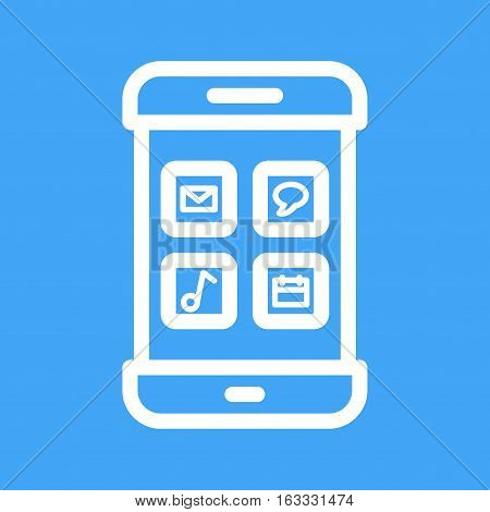 App, mobile, internet icon vector image. Can also be used for smartphone. Suitable for mobile apps, web apps and print media.