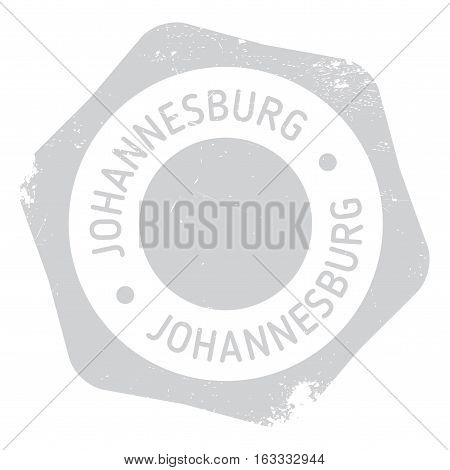 Johannesburg stamp. Grunge design with dust scratches. Effects can be easily removed for a clean, crisp look. Color is easily changed. rubber grunge