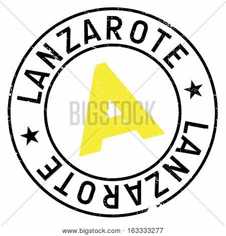 Lanzarote stamp. Grunge design with dust scratches. Effects can be easily removed for a clean, crisp look. Color is easily changed. rubber grunge