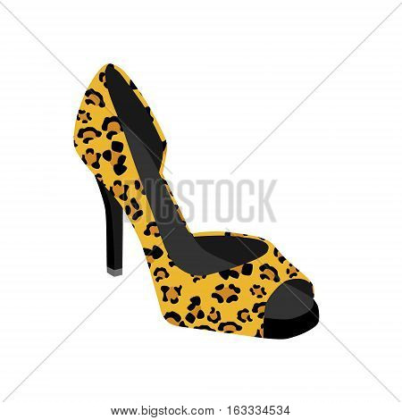 Shoe With Leopard Pattern