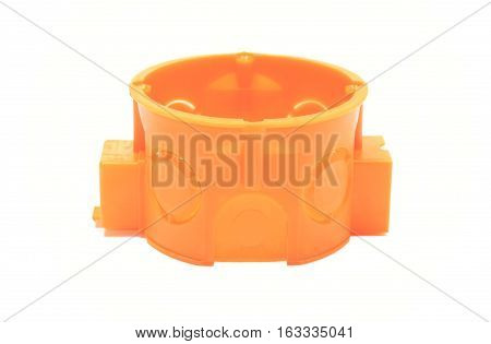 Orange Electrical Box On White Background