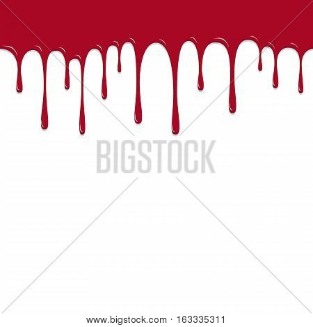 Paint Red Color Dropping, Color Droping Background Vector Illustration
