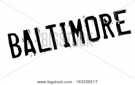 Baltimore stamp. Grunge design with dust scratches. Effects can be easily removed for a clean, crisp look. Color is easily changed.