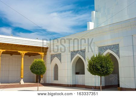 A Fragment Of White Mosque Minor In Tashkent, Uzbekistan.