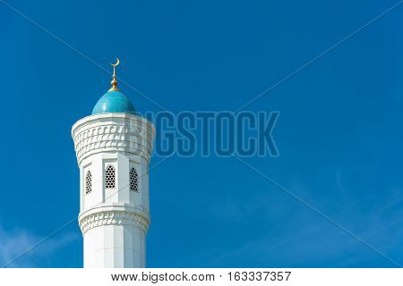 The Top Of The Minaret Of The Mosque Minor In Tashkent, Uzbekistan.