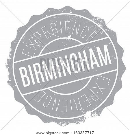 Birmingham stamp. Grunge design with dust scratches. Effects can be easily removed for a clean, crisp look. Color is easily changed.