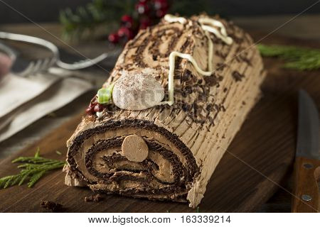 Homemade Chocolate Christmas Yule Log