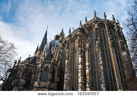 Aachen Cathedral seen from the south, Germany