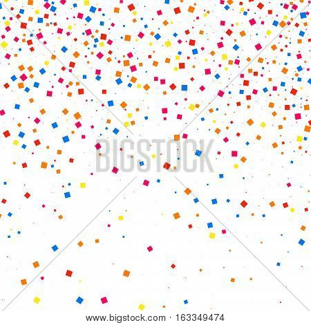 Colorful Explosion Of Confetti.  Colored Grainy Texture Vector.
