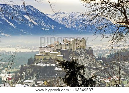 City and castle Hohensalzburg - Salzburg, Austria