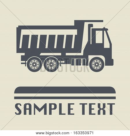 Truck icon or sign abstract vector illustration