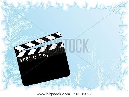 Vector Movie scene with light blue background