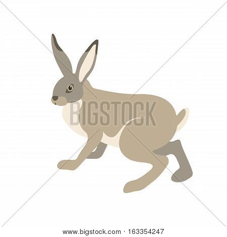 hare vector illustration style Flat side profile