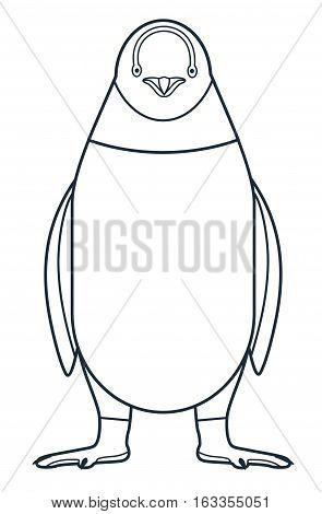 The figure of the penguin. Line icon. Vector drawing of a series of Arctic animals. The element for the logo and design