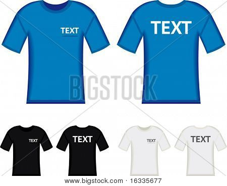Vector blue t-shirt with space for text
