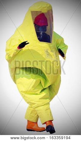 Person With Protective Suit