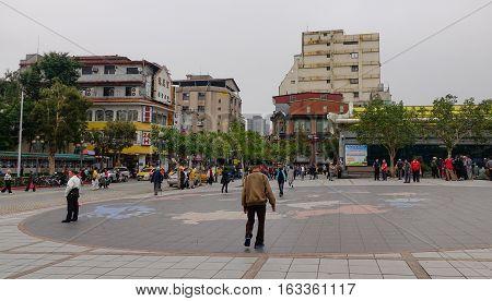 Street In Taipei, Taiwan