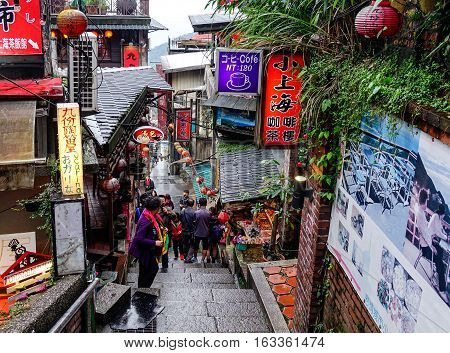 View Of Night Market In Jiufen, Taiwan