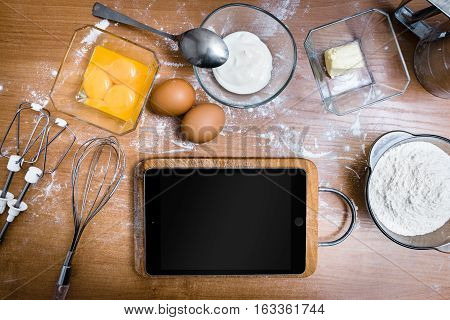 Tablet In The Kitchen